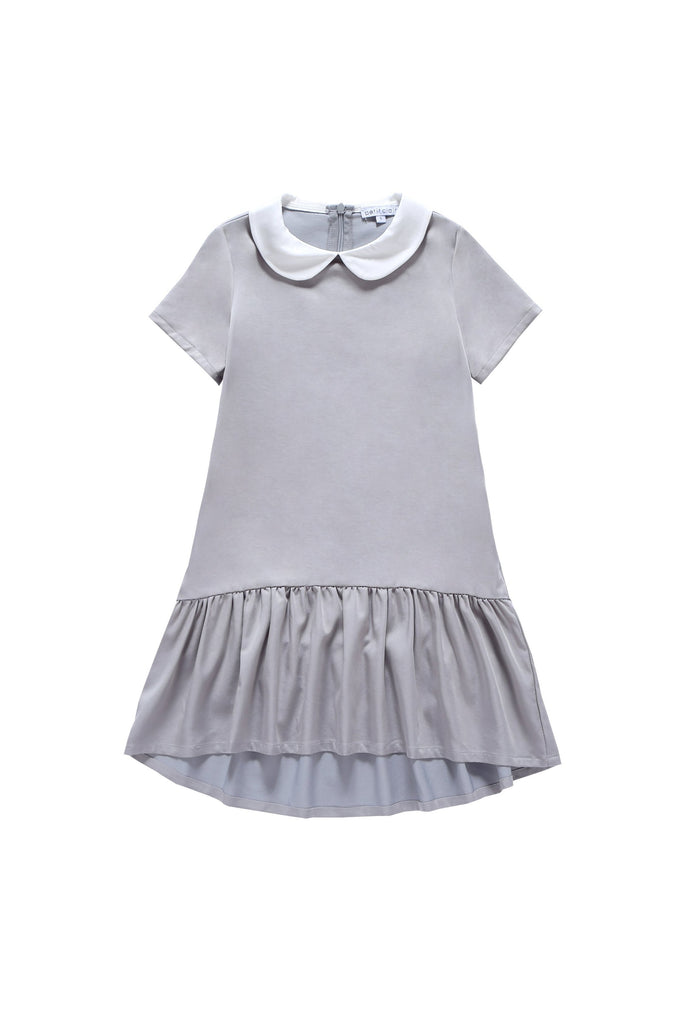 Petit Clair Grey Hi-low Hem Dress