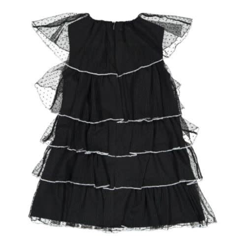Nove Black Layered Tulle Dress