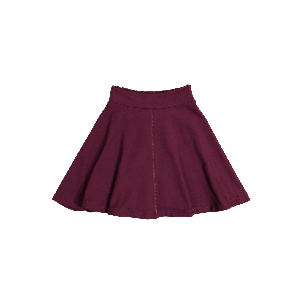 Teela Plum Knit Circle Skirt