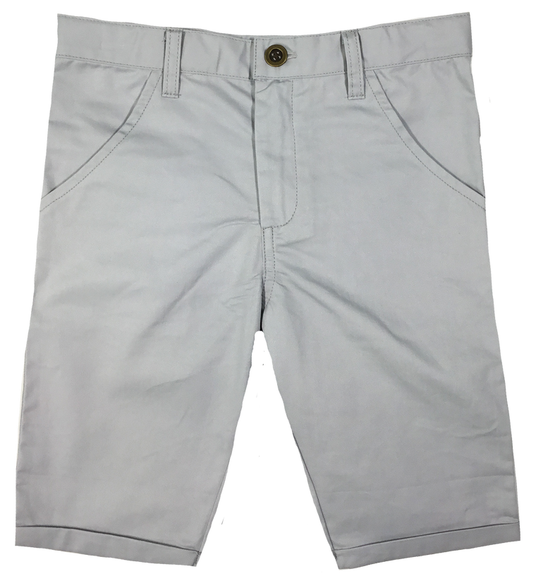 Kipp Grey Polished Cotton Shorts