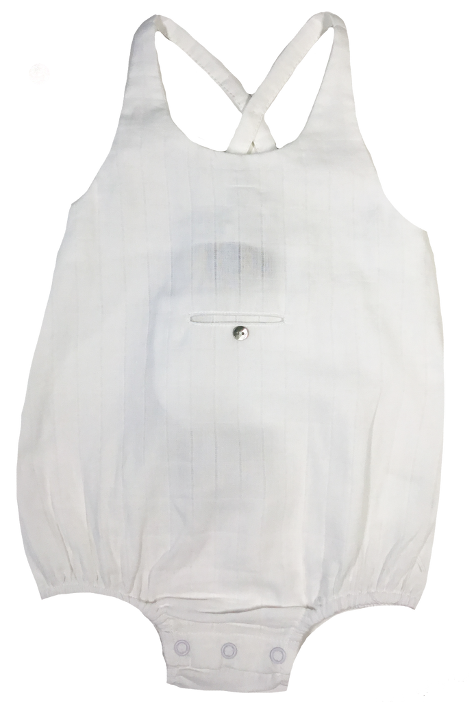Little Cocoon White Square Romper