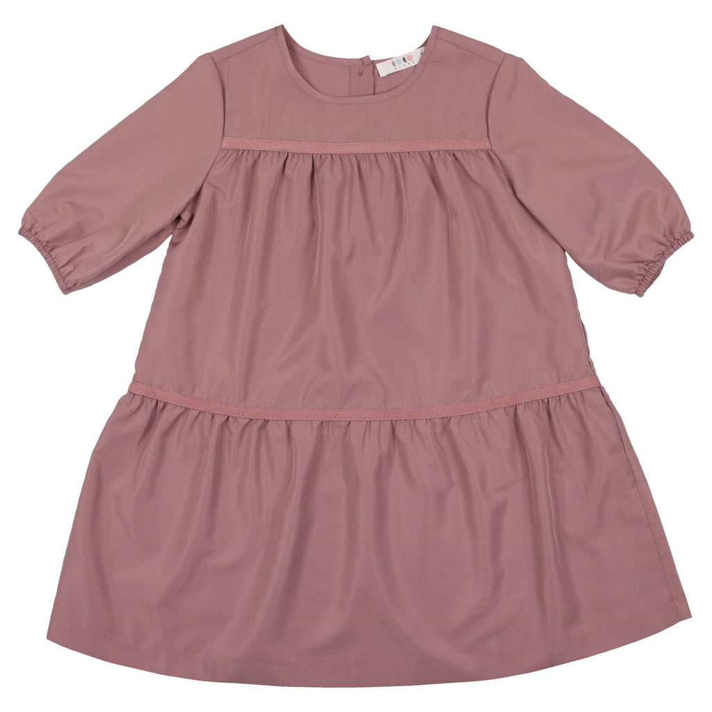 Coco Blanc Deep Rose Tiered Dress