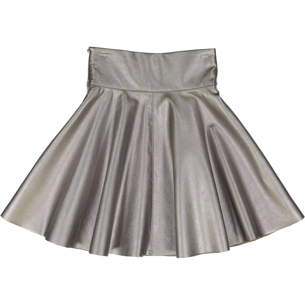 Teela Sliver Metallic Circle Matallic Skirt