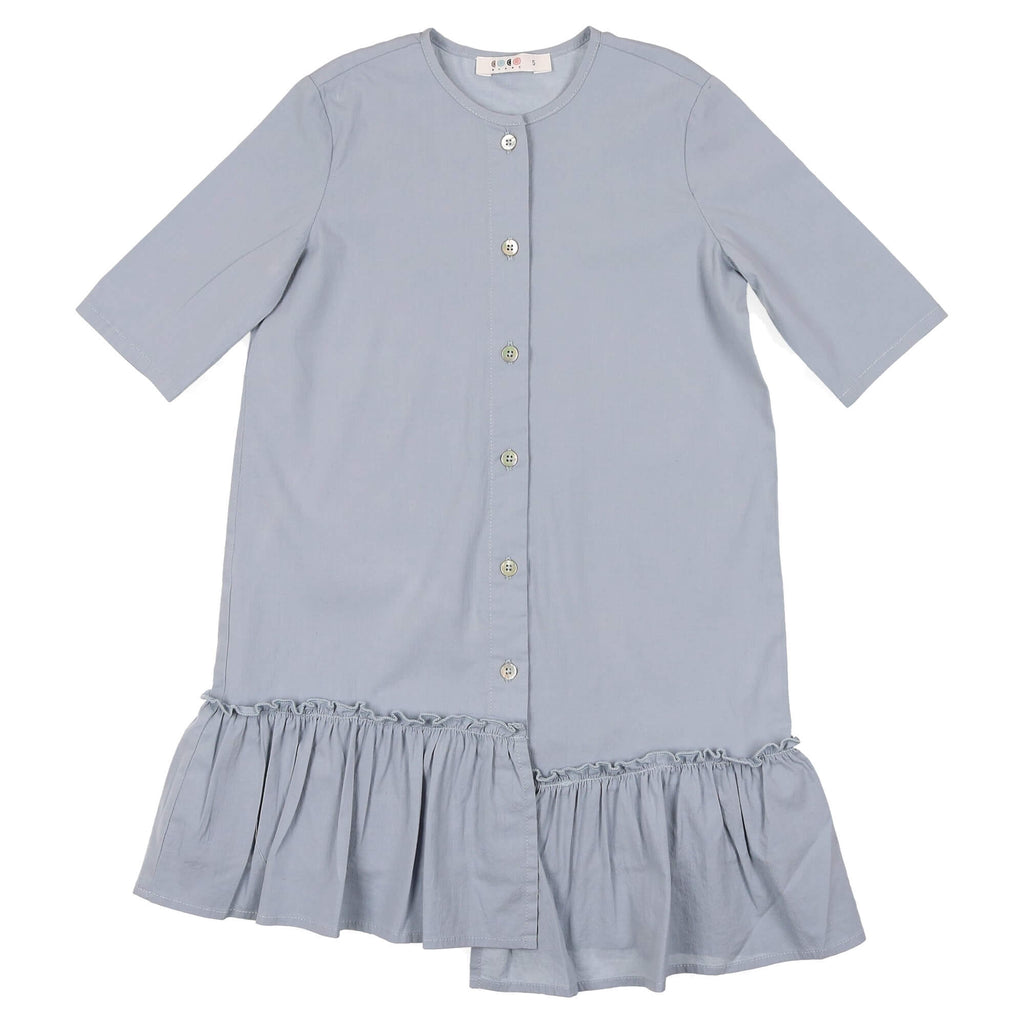 Coco Blanc Ice Blue Uneven Dress