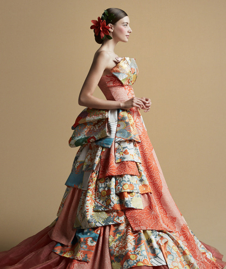 7 Stunning Wedding Dresses Made From Traditional Japanese Kimonos ...