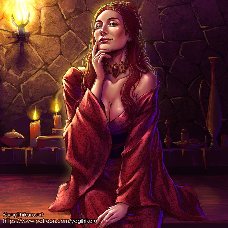 Melisandre in kimono of Asshai[Game of Thrones]