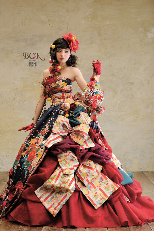 7 Stunning Wedding Dresses Made From Traditional Japanese ...