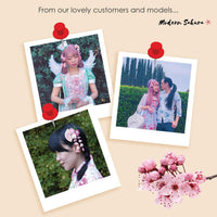 Cherry Blossom Moon Bunny and Fan Hair Clip Product Showcase