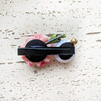Cherry Blossom and Moonbunny Hair Clip - Kimono Hair Accessories - Back