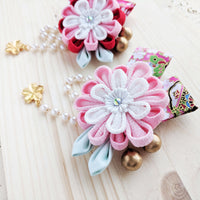 Chrysanthemum Hair Clip with Ribbons