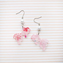 Dangle Gold Fish Earrings by Cocoluck - Pink