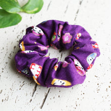 Daruma Doll Elastic Hair Scrunchie in Purple