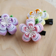 Double Layers Plum Blossoms Kanzashi Hair Clip