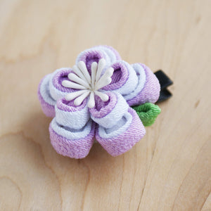 Double Layers Plum Blossoms Kanzashi Hair Clip Side