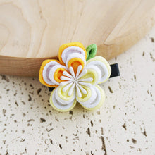 Double Layers Plum Blossoms Kanzashi Hair Clip Yellow