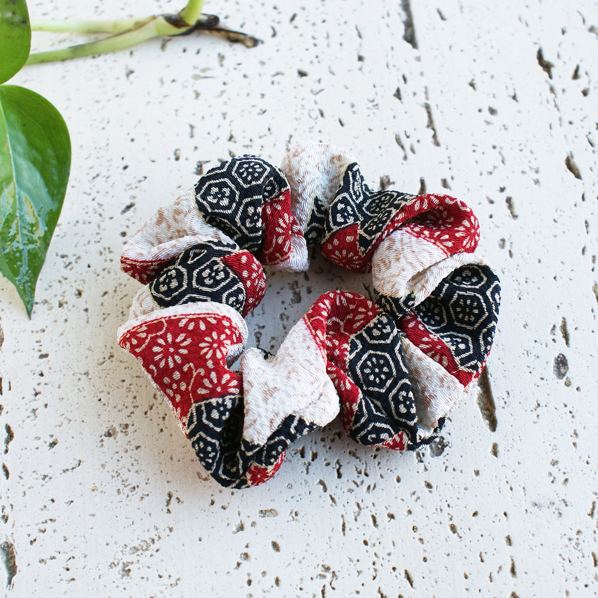 Fabric Scrunchie - Elegant Red