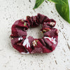 Fabric Scrunchie - Moon Bunny in Maroon