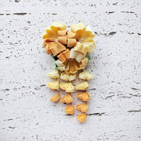 Geisha Cherry Blossoms Fabric Hair Ornament for Kimonos - Yellow