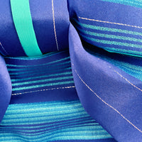 Pre-Tied Obi Belt - Blue Stripes