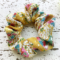 Fabric Scrunchie - Floral Yellow