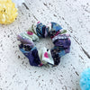 Japanese fabric scrunchie cherry blossom blue