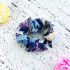 Fabric Scrunchie - Japanese Patterns with Gold Accents Blue