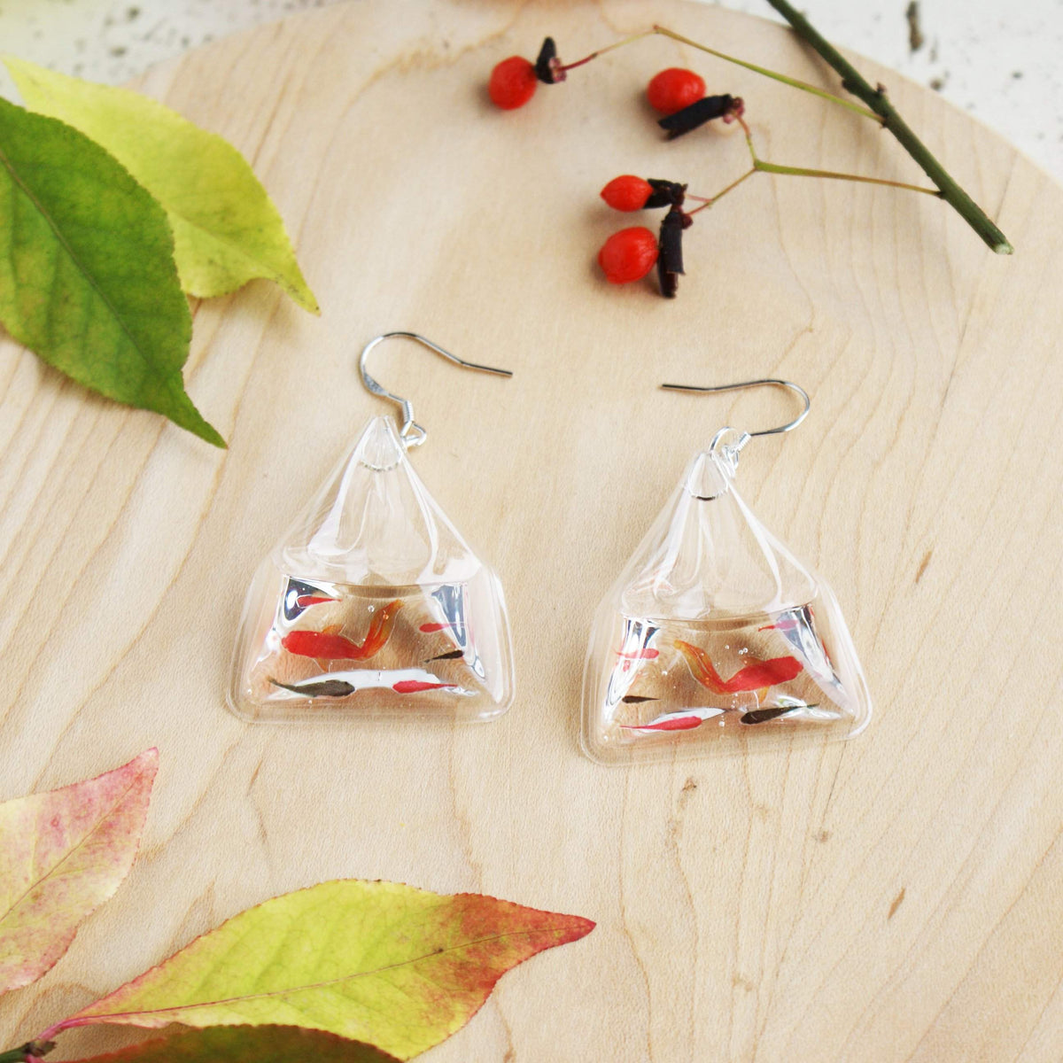 Japanese Fish Pond Earrings