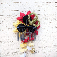 Japanese Kanzashi Fall Leaves Hair Comb - Back