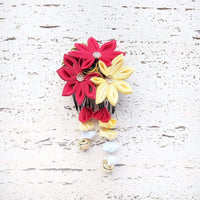 Japanese Kanzashi Fall Leaves Hair Comb