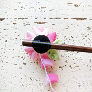 Japanese Kanzashi Sakura Wood Hair Stick for Kimono - Back