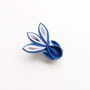 Kanzashi Gold Fish Hair Clip for Japanese Kimono - Blue