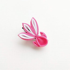 Kanzashi Gold Fish Hair Clip for Japanese Kimono - Hot Pink