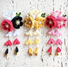 Kanzashi Plum Blossoms Dangle Hair Clip for Japanese Kimono