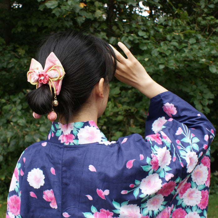 Plum Blossoms Hair Bow