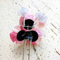 Kanzashi Plum Blossoms Two Leg Hair Stick for Japanese Kimono - Back