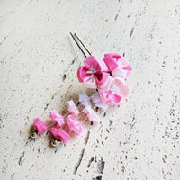 Kanzashi Plum Blossoms Two Leg Hair Stick for Japanese Kimono