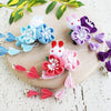 Kanzashi Rabbit and Plum Blossoms Dangle Hair Clip for Japanese Kimono