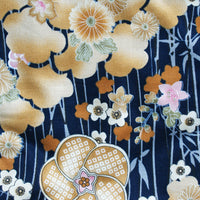 Knot Bag Plum Garden Navy Pattern
