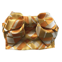 Pre-Tied Obi Belt - Checkered Gold