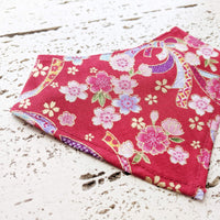 Pet Bandana - Japanese Cherry Blossoms Red