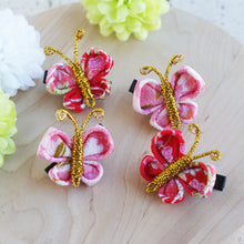 Small Butterfly Japanese Kanzashi Hair Clip Set