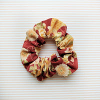 Fabric Scrunchie - Flowers in Red - Kimono Hair Accessories