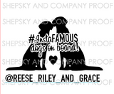 InstaFAMOUS dog/dogs on board silhouette