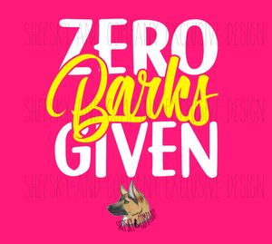 Design Only: Zero Barks/Meows Given