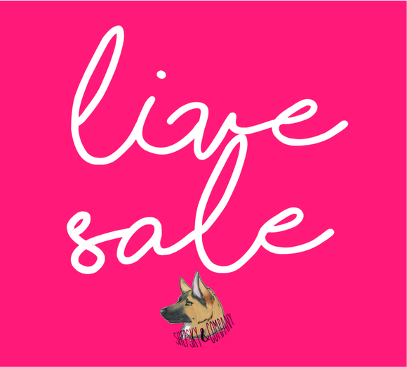 LIVE SALE OCTOBER 4TH
