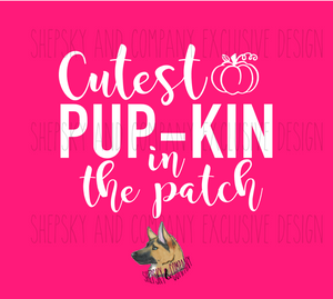 Design Only: Cutest Pupkin in the Patch