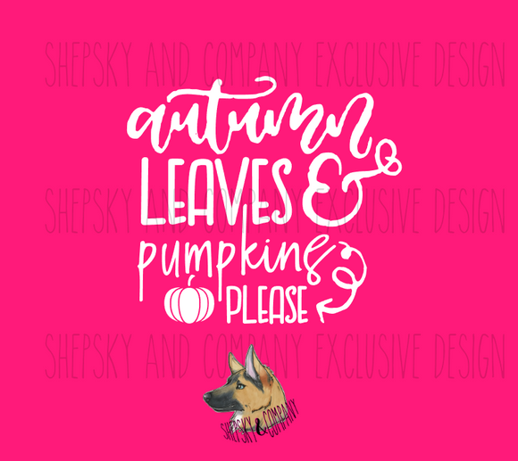 Design Only: Autumn Leaves and Pumpkins, Please