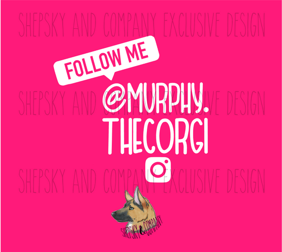 Design Only: Follow Me Banner (Personalized)