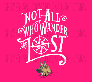 Design Only: Not all who wander are lost