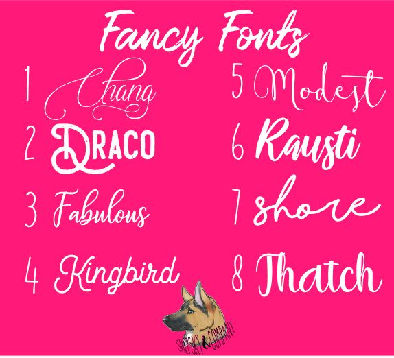Name Only: Fancy Fonts